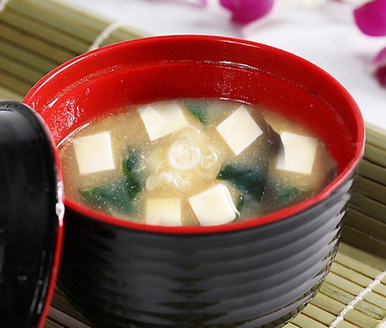 B11894 ~ nous Payer votre Sales Tax Lot de 6/japonais en m/élamine 味噌湯ボウル4/Miso soupe bols de riz avec couvercle