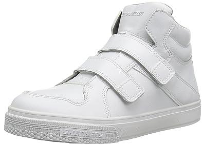 Skechers Kids Boys' Brixor-Slick Kickz Sneaker, Black/Black, 4 M US Big Kid