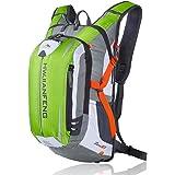 バックパック サイクリング サイクル バッグ リュックサック 自転車 かばん 登山 旅行 ハイキング スポーツ 鞄 18L 防水 ツーリング アウトドア 通勤 通学 多機能 光反射 専用レインカバー付き