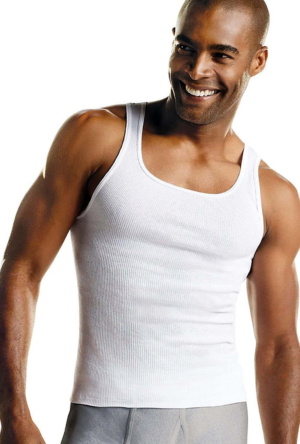Hanes Men/'s TAGLESS ComfortSoft A-Shirt 7-Pack Includes 1 Free Bonus A-Shirt