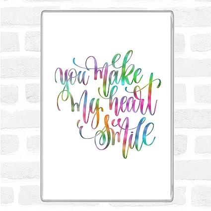 Imán para nevera, diseño con texto en inglés You Make My Heart ...