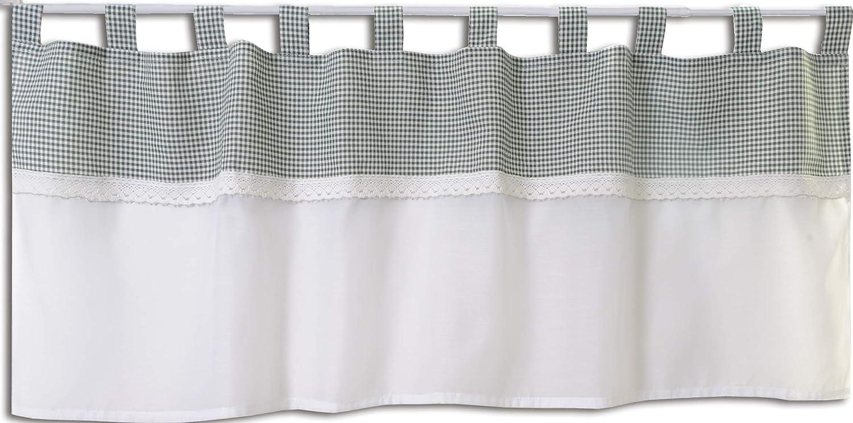 Startex 2415 Panneau /à Passants Style Maison de Campagne Blanc Naturel Dentelle 48 x 140 cm