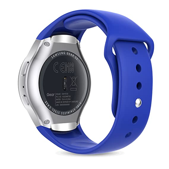 Gear S2 Watch Band, MoKo Soft Silicone Replacement Sport Band for Samsung Gear S2 Smart Watch, NOT FIT S2 Classic (SM-R732 & SM-R735), NOT FIT Gear ...