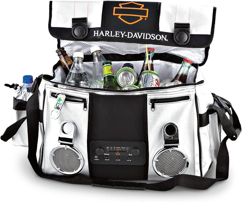 Harley Davidson Insulated Cooler Bag with Built-in AM/FM Radio