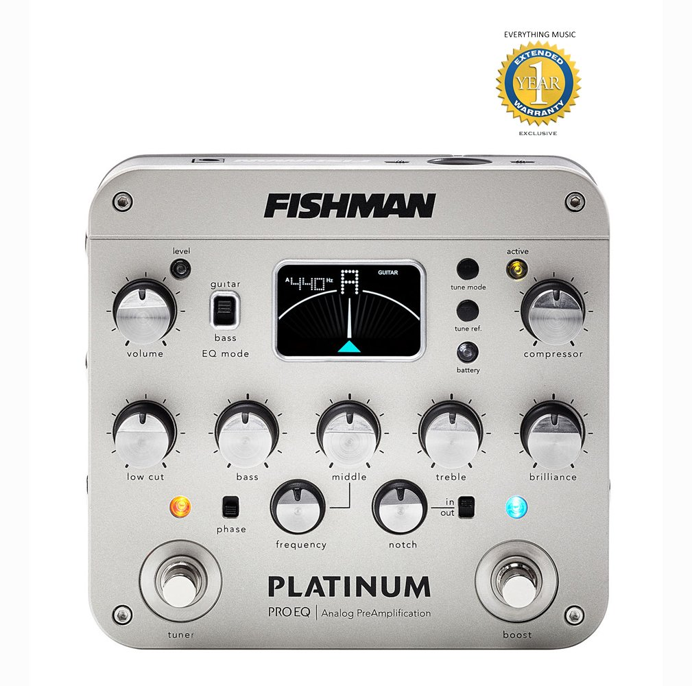 Fishman Platinum Pro EQ/DI Analog Preamp with 1 Year EverythingMusic Extended Warranty Free