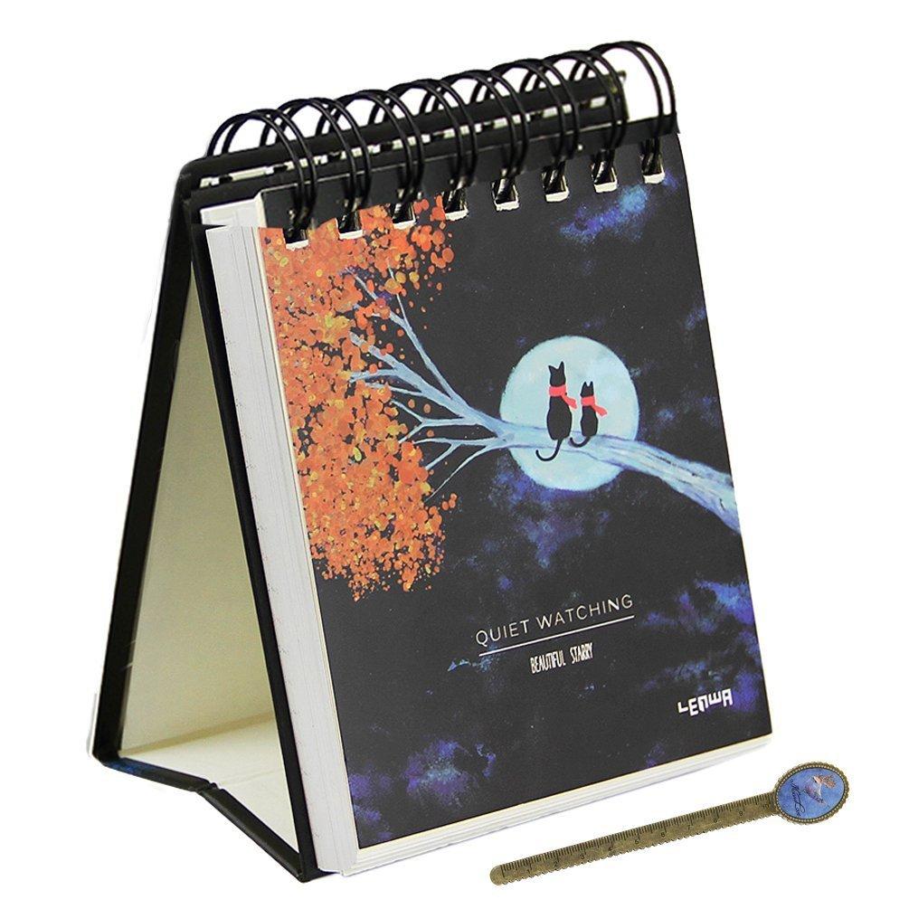 Espiral planificador de Agenda de escritorio papelería bolsillo, 128 páginas de planificación diaria blocs de notas para 100 días: Amazon.es: Oficina y ...