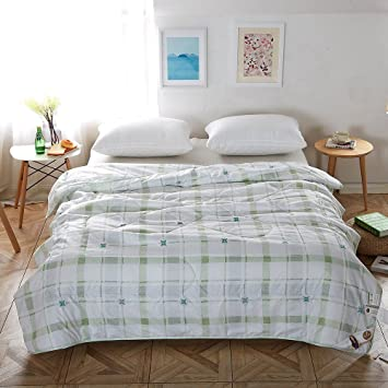 Amazon.com: NATURETY Thin Comforter for Summer, Bed quilt (Queen ... : bed quilts queen - Adamdwight.com