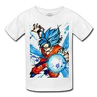 T-shirt enfant god goku dragon ball super cheveux bleu sangoku dbz manga