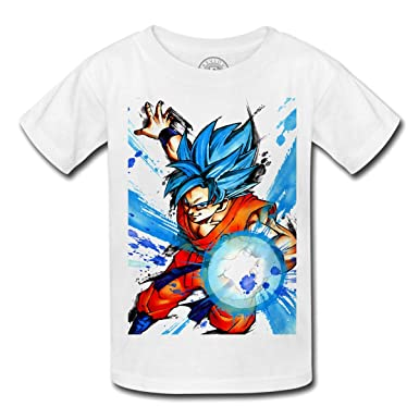Cheap Price T-shirt Enfant God Goku Dragon Ball Super Cheveux Bleu Sangoku Dbz Manga Vêtements Garçons (2-16 Ans)