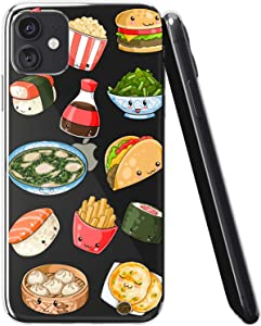 Vonna Phone Case Compatible with Apple iPhone 12 Pro Max 12 Mini 12 Pro 12 5G Sushi Soft Cute Kawaii Cover Girl Junk Slim fit Taco French Smooth Print Fast Design Flexible Food Fries a642