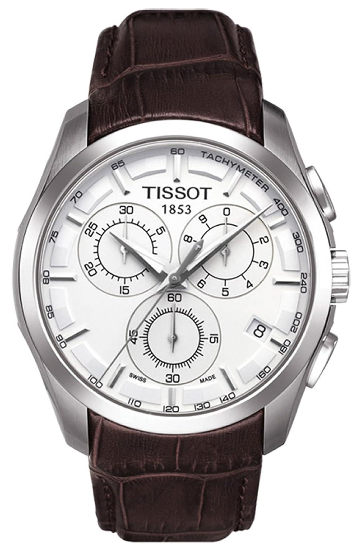 tissott0356171603100メンズt-trend Couturierクロノグラフホワイトダイヤルブラウン本革 B00HZFTVQ2