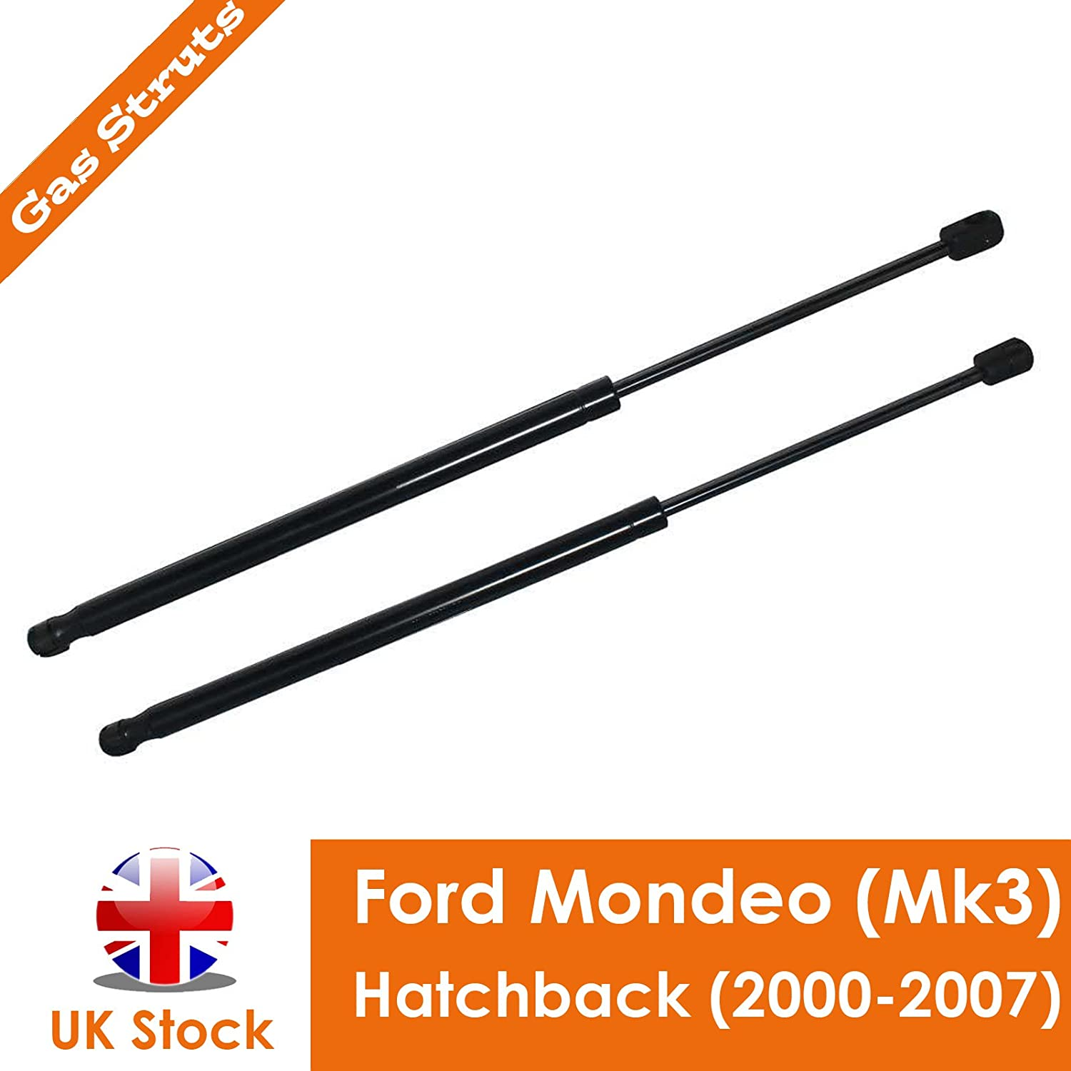Pair Gas Springs Struts Tailgate Lift Support Rear Holder Replace High Quality Black UK Stock DICN Factory