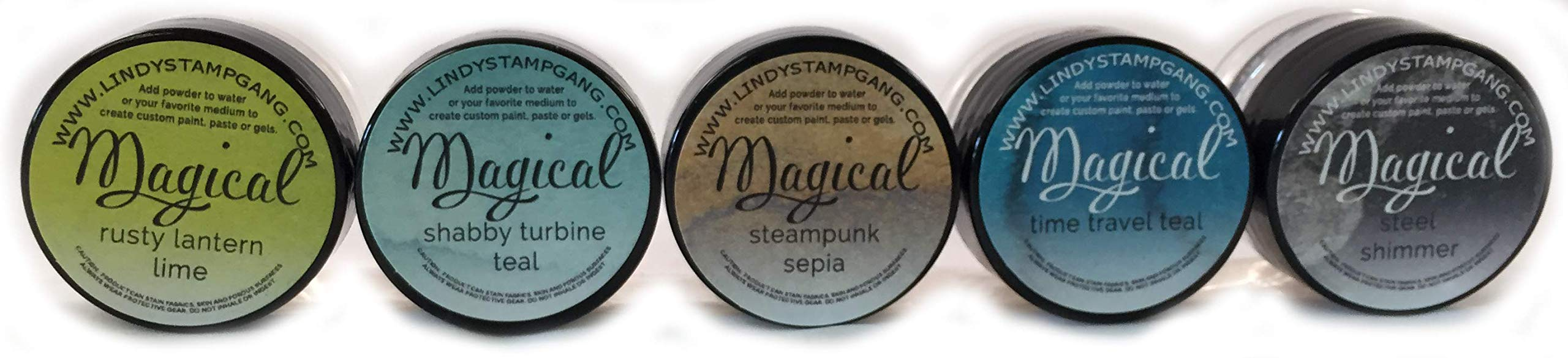Lindy's Stamp Gang Magical Jar Set, 0.25-Ounce, Industrial Chic, 5 Per Package
