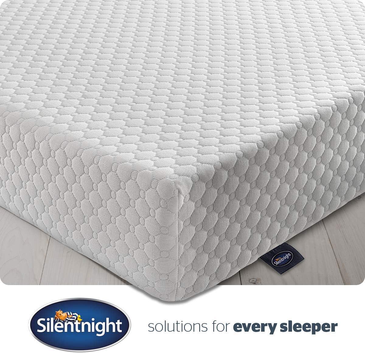 Silentnight - Colchón (espuma con efecto memoria, 7 zonas) 150 x 200 cm