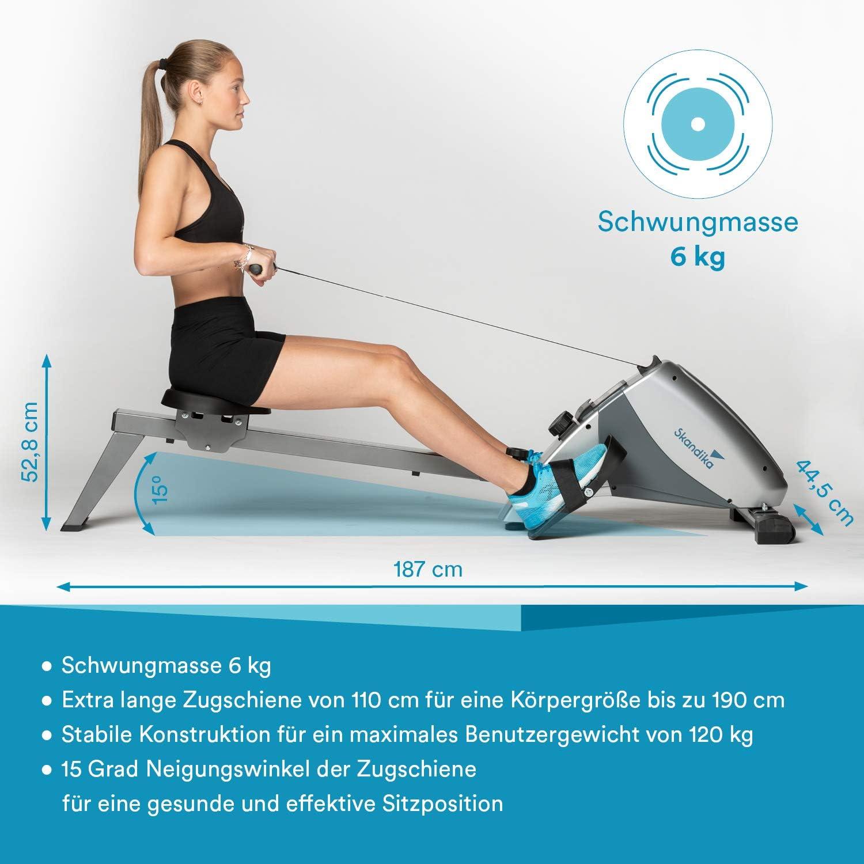 skandika Regatta Multi Gym Poseidon/Oxford Rudergerät - Abmessungen