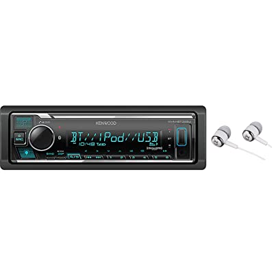Kenwood Bluetooth USB MP3 WMA AM/FM Digital Media Player Dual Phone Connection Pandora Car Stereo Receiver/Free Alphasonik Earbuds: Car Electronics