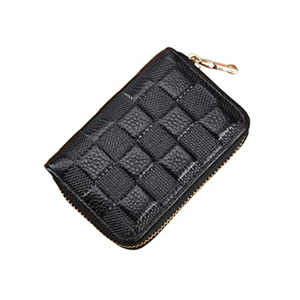 2659f91ba26d LXJ STORE Women Men RFID Blocking Credit Card Holder Cards Case Wallet  Leather Multi Card Protector Safe Small Purse for Travel Work Shopping  (Black)