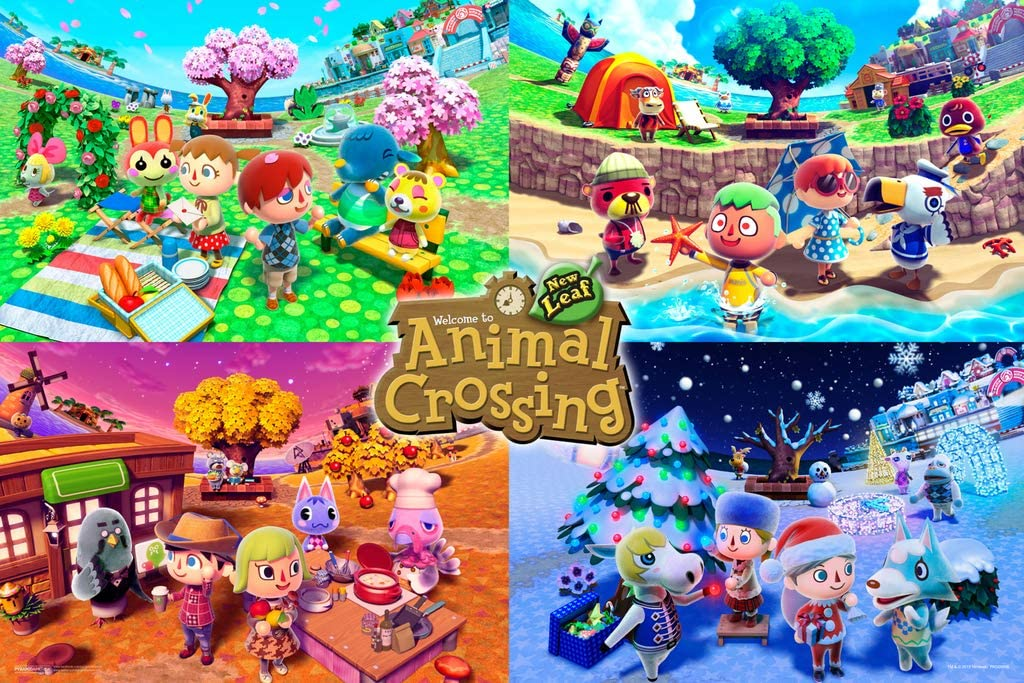 Pyramid America Officially Licensed Animal Crossing New Horizons Nintendo Switch New Leaf Merch Cool Wall Decor Art Print Poster 18x12