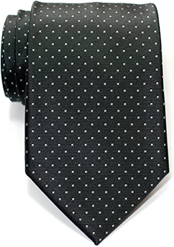 Retreez Corbata de microfibra con puntitos para hombres Gris con ...
