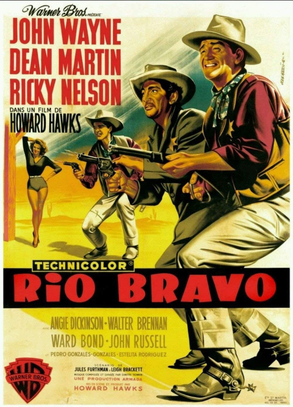 Tomorrow sunny Rio Bravo John Wayne Dean Martin Movie Wall Silk Poster 24X36 inch/60X90cm