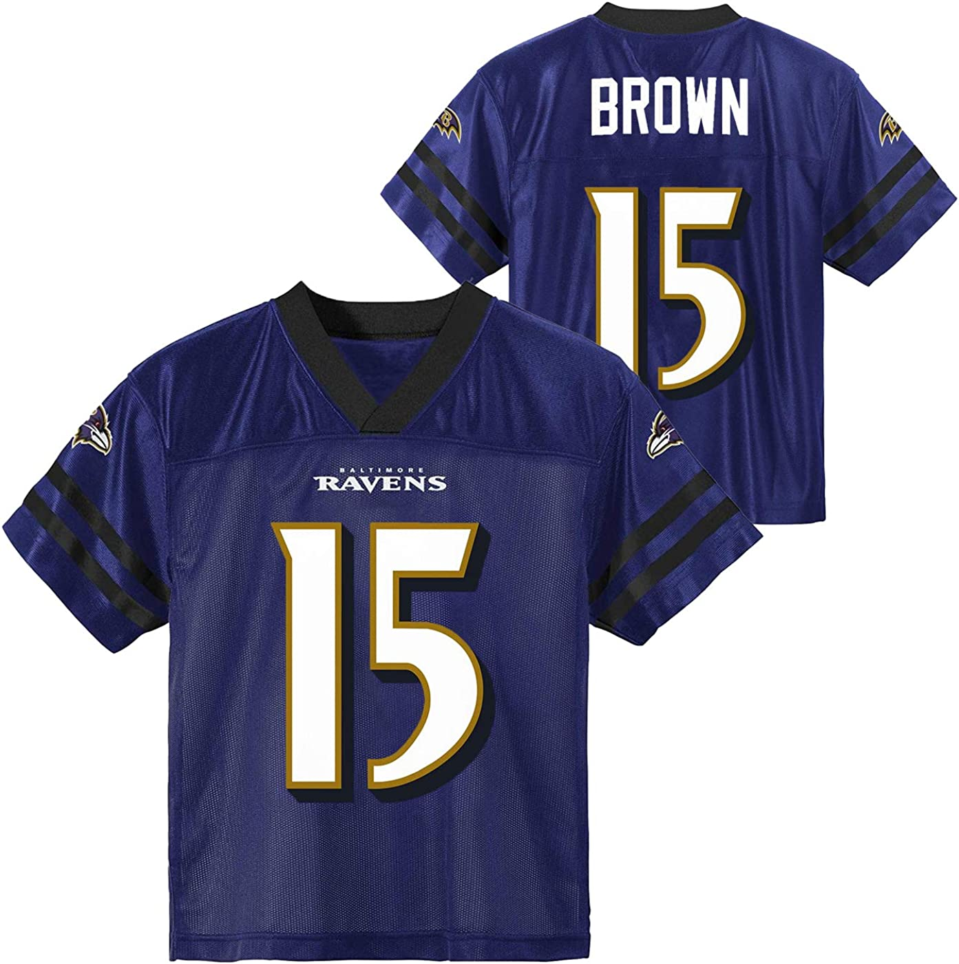 Marquise Brown Baltimore Ravens #15 Purple Youth 8-20 Home Player Jersey