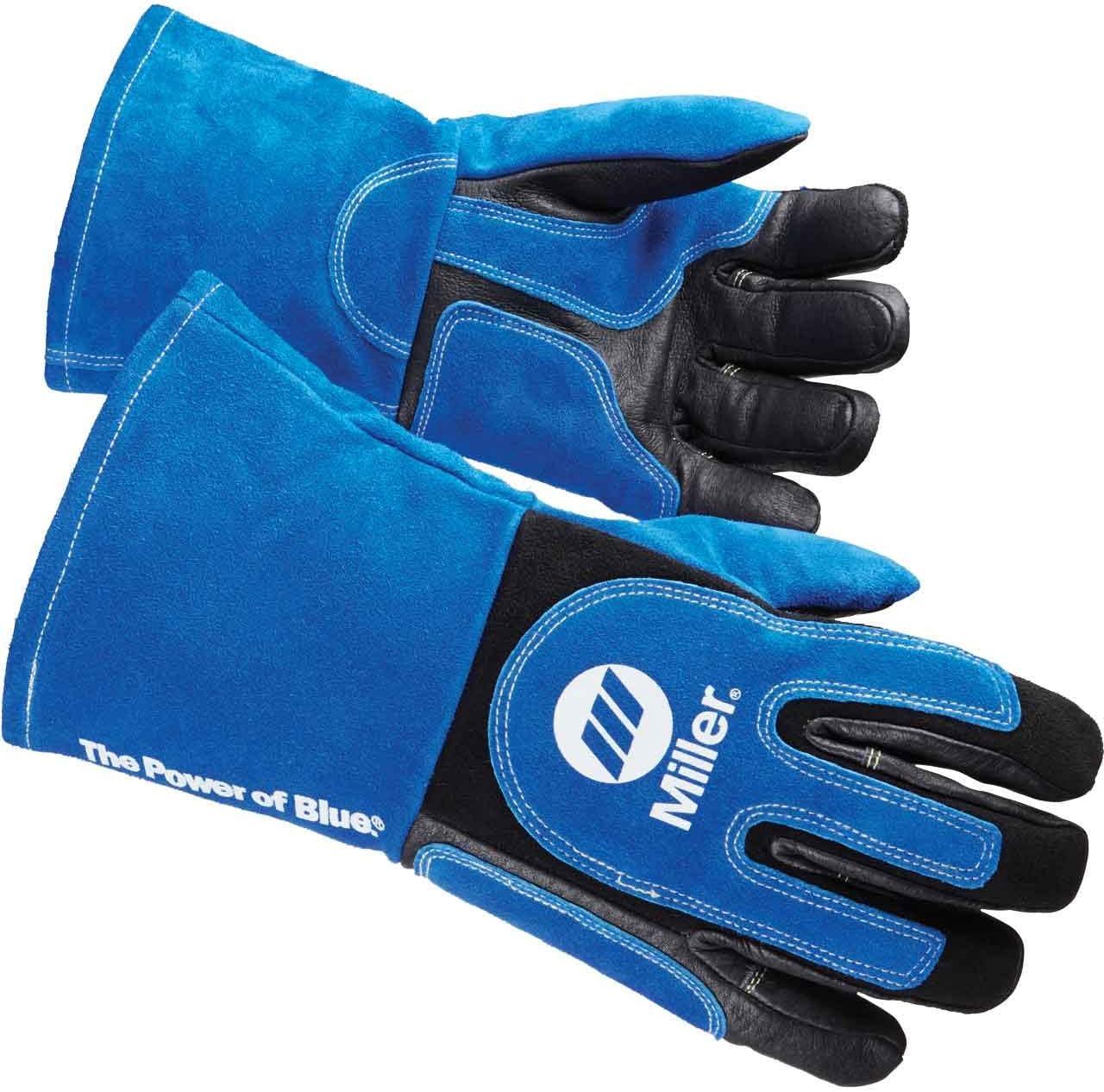 MILLER ELECTRIC 271888 Welding Gloves,MIG,L,PR