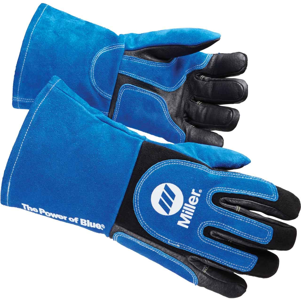 Welding Gloves, 3D, XL, Wing, Blueblack, PR