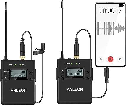 NLEON P1/P sistema de micrófono profesional Lavalier para ...