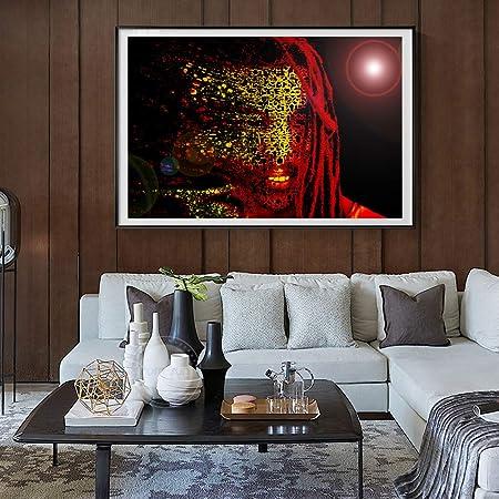 RTCKF Moderno Abstracto Pop Star Bob Marley Retrato Arte ...