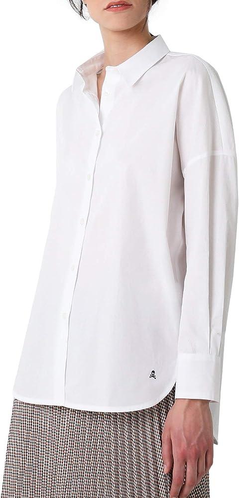 Scalpers Camisa Jacquard Topos - White/XS: Amazon.es: Ropa y accesorios