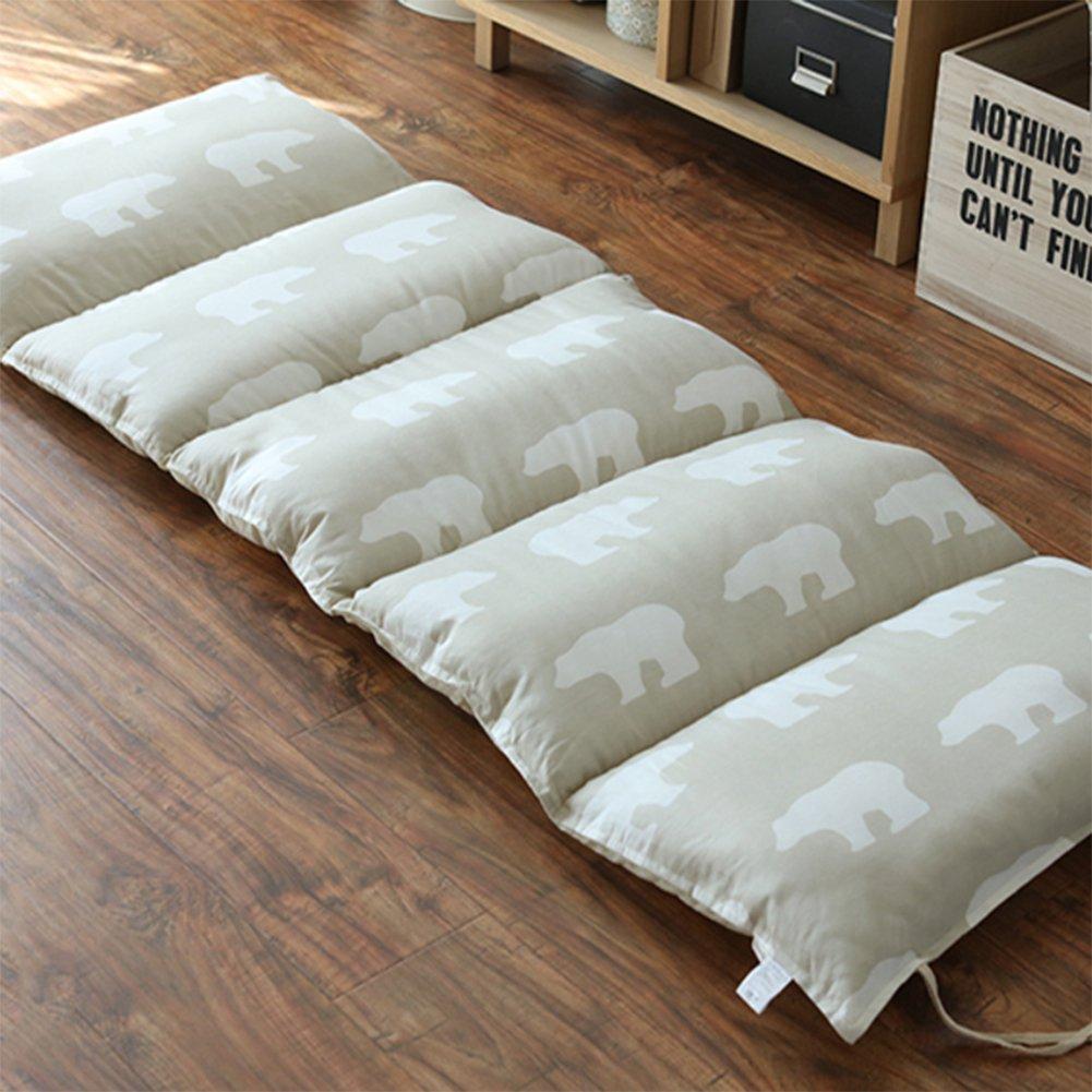 GX&XD 100% cotton Collapsible Tatami floor mat,Folding mattress Floor lounger cover Floor mattress Storage mattress Carpet Nap mat-C 61x167cm(24x66inch)