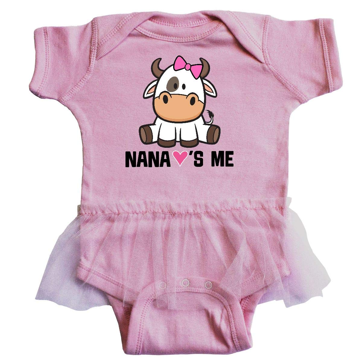inktastic Nana Loves Me Girl Cow Toddler T-Shirt