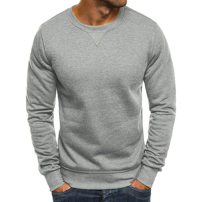 VPASS Sudadera para Hombre, Jersey de Jersey de Manga Larga otoño Invierno Casual Abrigo Camisas Blusa Top chándales Color sólido para Hombre Hombres Manga Larga Chaqueta Abrigo Abrigo de los: Amazon.es: Ropa