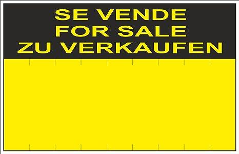 Normaluz RD51405 - Cartel Se Vende For Sale Zu Verkaufen PVC Glasspack 0,4 mm 45x70 cm