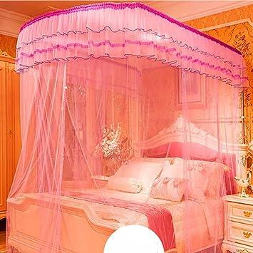 Wohnzimmer Vorhänge Vorhänge Im Schlafzimmer U Typ Prinzessin Teleskopisch  Moskitonetz Square Top Drei Türen Dicker