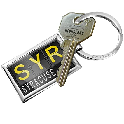 Amazon.com  NEONBLOND Keychain SYR Airport Code for Syracuse b3a808275