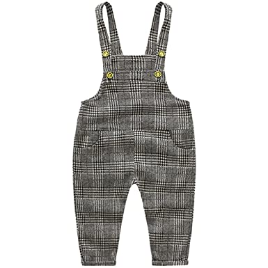 877987e99707 JiAmy Baby Toddler Dungarees Knitted Overalls Boys Girls Strap ...