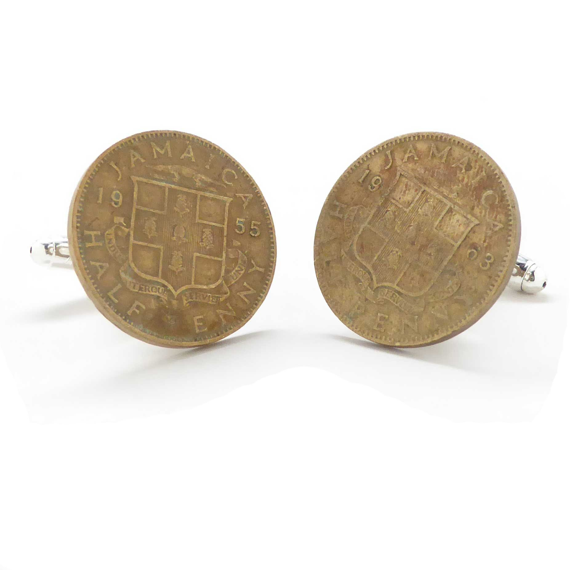 Jamaica Coin Cufflinks Cuff Links Souvenir Jewelry Caribbean Kingston Port Royal Montego Bay Kingston