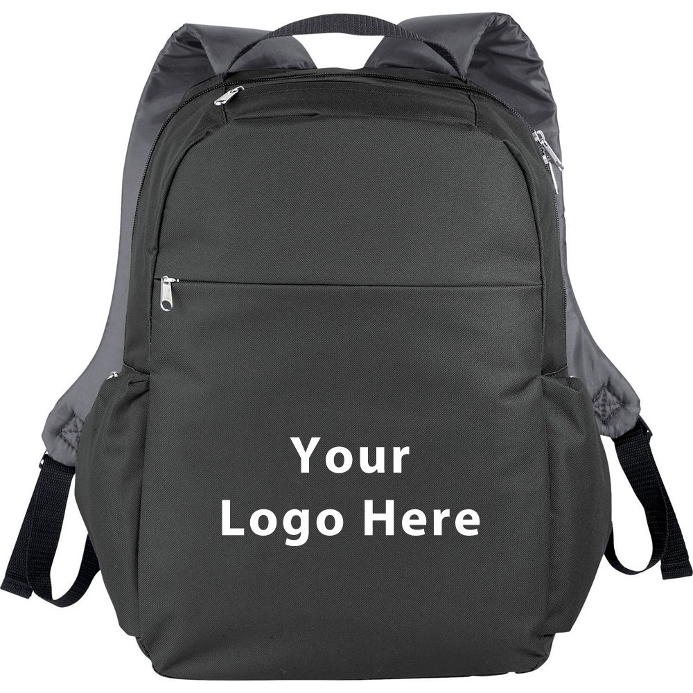 Slim 15'' Computer Backpack - 50 Quantity - $12.65 Each - PROMOTIONAL PRODUCT / BULK / BRANDED with YOUR LOGO / CUSTOMIZED