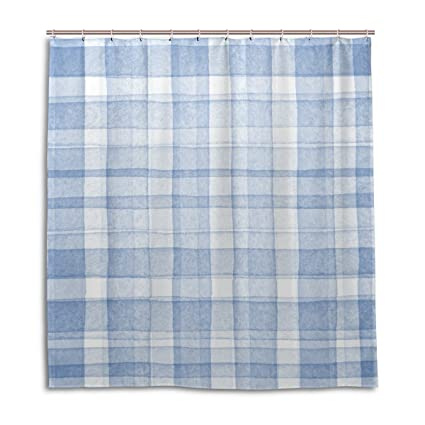 Amazon.com: My Daily Watercolor Blue Plaid Gingham Checkered Stripe ...