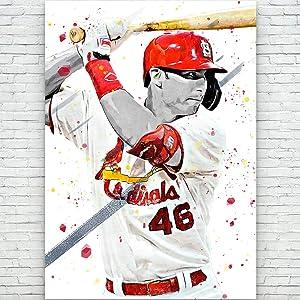 ClifeDesign Paul Goldschmidt St. Louis Cardinals Baseball Poster - Sports Wall Decor - Man Cave Gift - Baseball Player Print (12