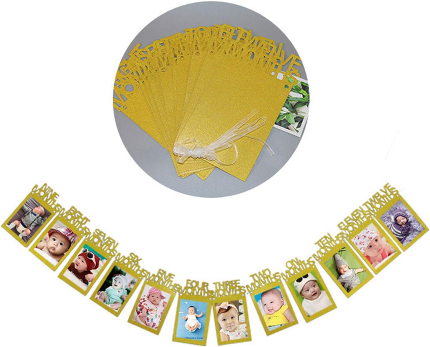 con Corda Festa di Compleanno Fotografia Sfondo 12 PCS Banner Fotografico Winthai Decorazioni di Compleanno Adatto per Feste di Compleanno Bambini 1 Anno Sfondo Festa di Compleanno