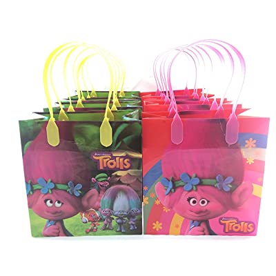 Dream works Trolls 12 Pcs Goodie Bags Party Favor Bags Gift Bags Birthday Bags: Kitchen & Dining