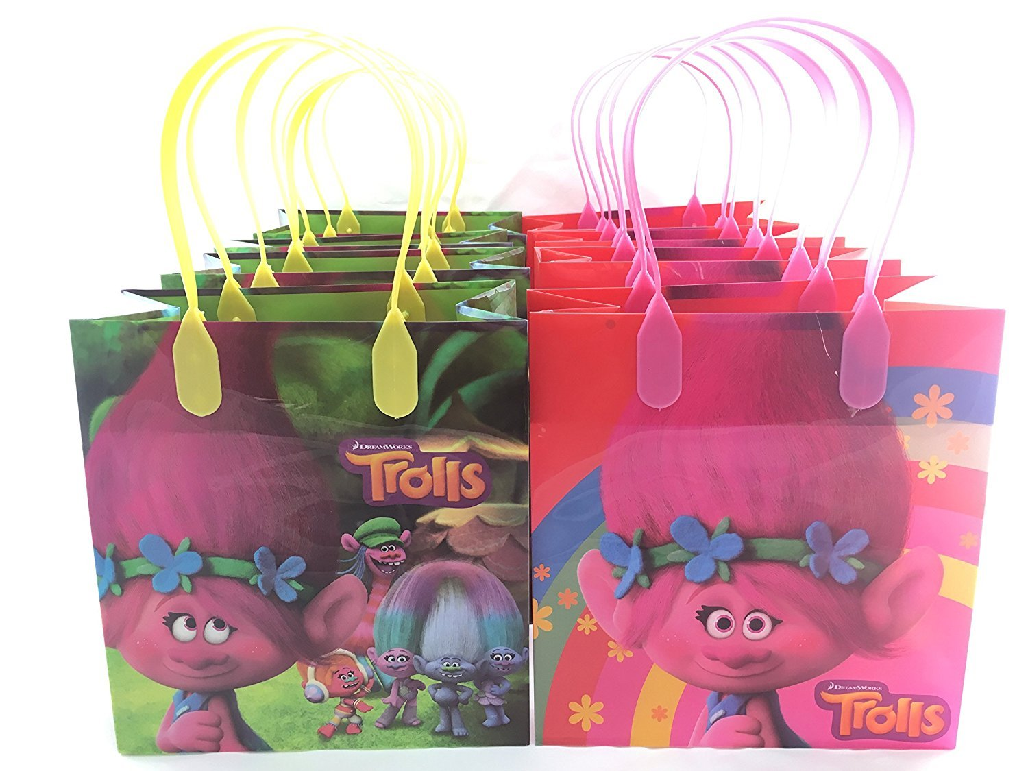 Amazon.com: Dream works Trolls 12 Pcs Goodie Bags Party Favor Bags ...