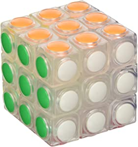 Little Treasures Cube Clear Speed Cube, 3 x 3 Puzzle Cube, Sticker Less 3 Layer Speed Cube, Vivid Color
