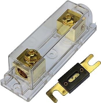 VOODOO 0//2//4 Gauge Ga ANL Fuse Holder 50 Amp Fuses 100 Amp ANL Fuses 4 Pack