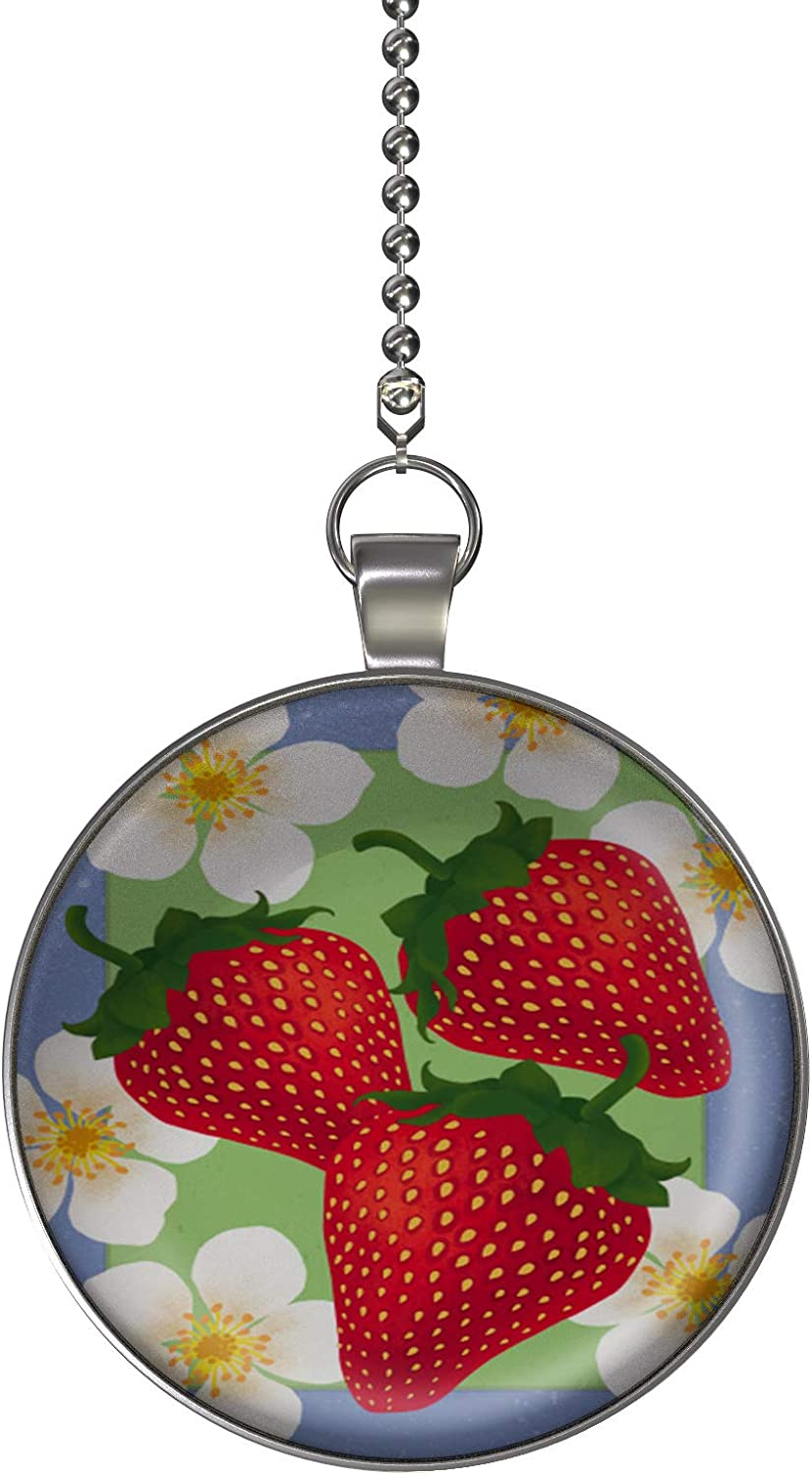 Gotham Decor Summer Strawberries Fan//Light Pull Pendant with Chain