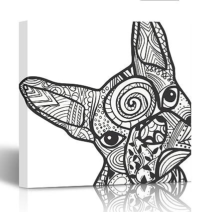 Amazon.com: Emvency Canvas Prints Square 20X20 Inches Dog Boston ...