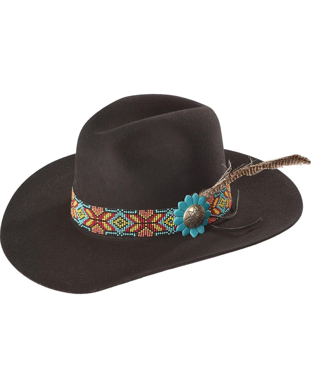 Charlie 1 Horse Women's Gold Digger 5X Hat Black 6 3/4