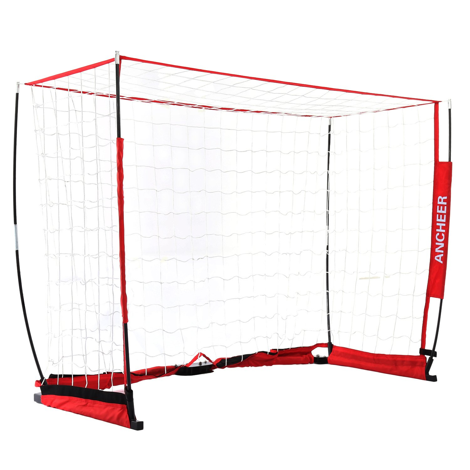 AncheerポータブルサッカーゴールFolding Soccer Goal Net in 3 Sizes B078GKF9P4 6x4ft 6x4ft